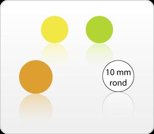 Etiketten onbedrukt 10 mm rond