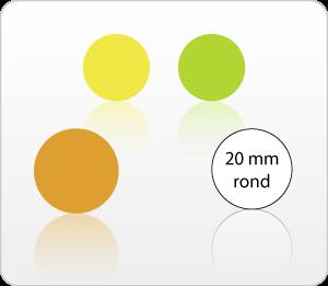 Etiketten onbedrukt 20 mm rond