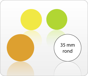 Etiketten onbedrukt 35 mm rond