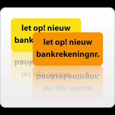 Nieuw bankrekening nummer  rol 500 st.