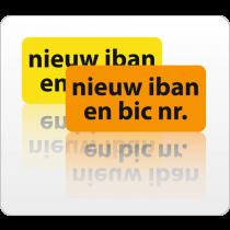 Nieuw iban-bicnummer rol 500 st.