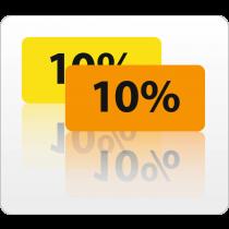 10% rol 500 St.